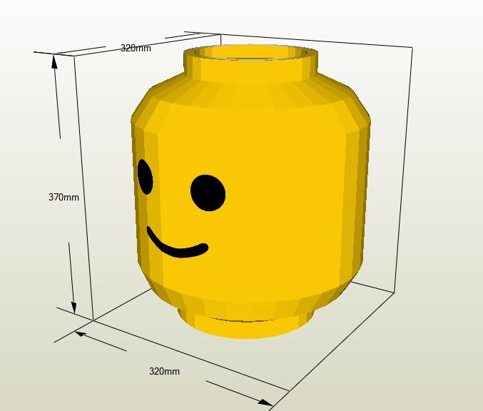 Cabeza de Lego papercraft