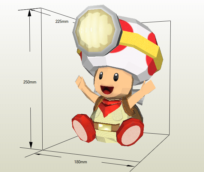 Toad papercraft