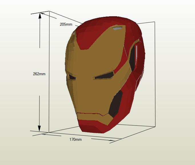 Casco Iron Man papercraft