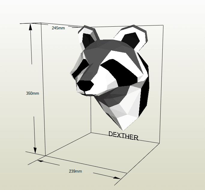 Mapache papercraft