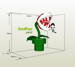 Planta Piraña papercraft