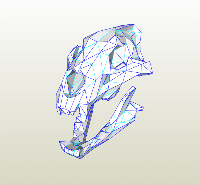 Cráneo de León papercraft
