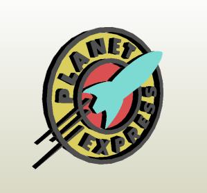 Logo Planet Express papercraft