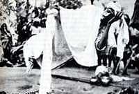 Plunkett y su amigo examinaron el espacio que hab�a debajo y alrededor del yogui, sin hallar rastro alguno de hilos, cordeles u otros trucos. Aunque algunos han sugerido que el yogui únicamente se encontraba en trance cataléptico, la posición relajada de la mano sobre el bastón indica que casi no pesaba durante la sesión. Una vez terminada la levitación, el cuerpo del yogui estaba completamente r�gido.