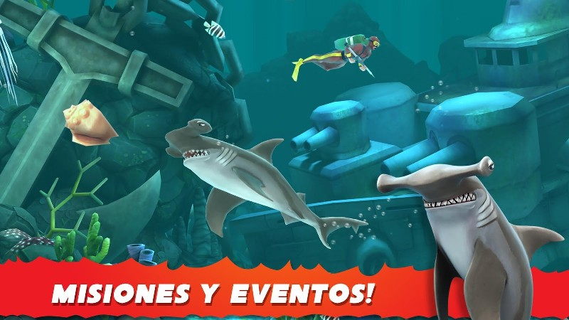 Hungry Shark Evolution APK MOD imagen 4