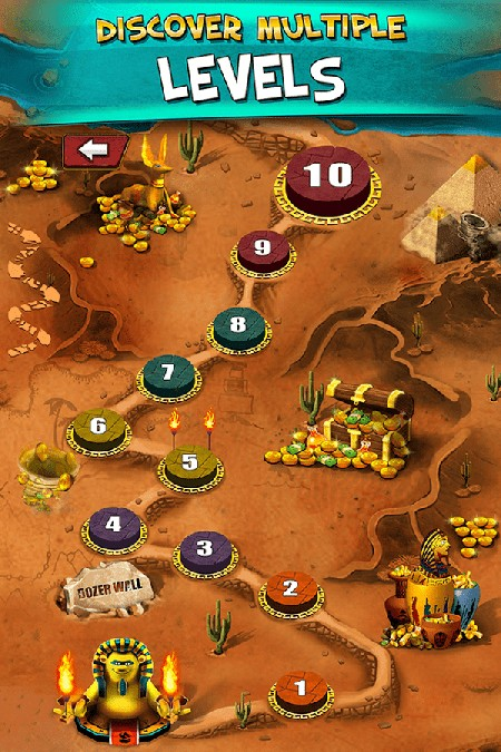 Pharaoh Gold Coin Party Dozer APK MOD imagen 2