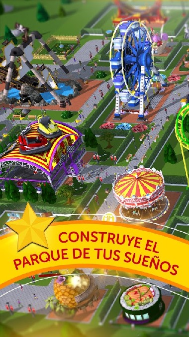RollerCoaster Tycoon Touch APK MOD imagen 1