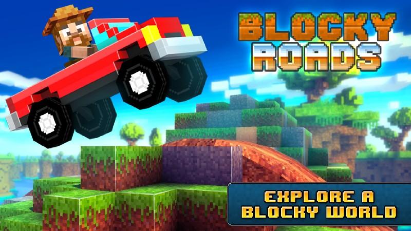 Blocky Roads APK MOD imagen 1