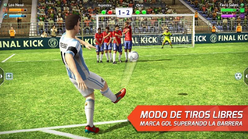 Final kick: Online football APK MOD imagen 2
