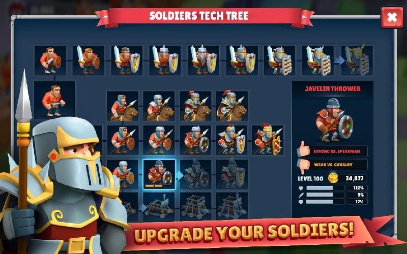 Game of Warriors APK MOD imagen 2