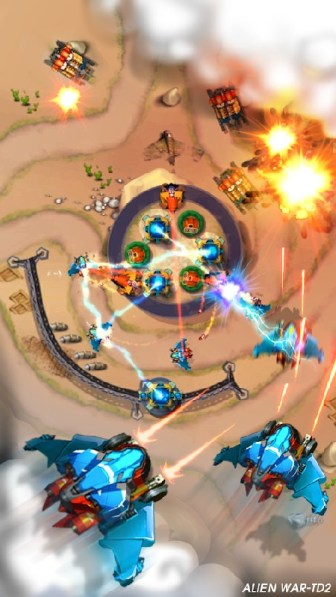 Tower Defense Alien War TD 2 APK MOD imagen 1