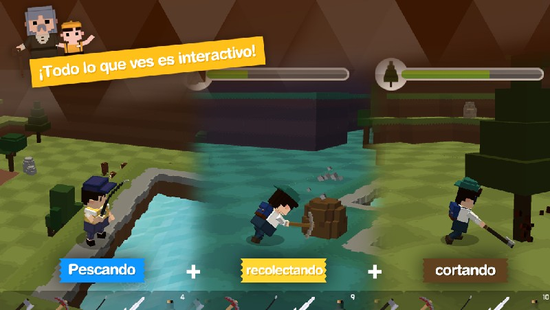 Pocket World Island of Adventure APK MOD imagen 2
