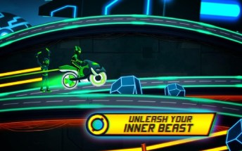 Bike Race Game Traffic Rider Of Neon City APK MOD imagen 4