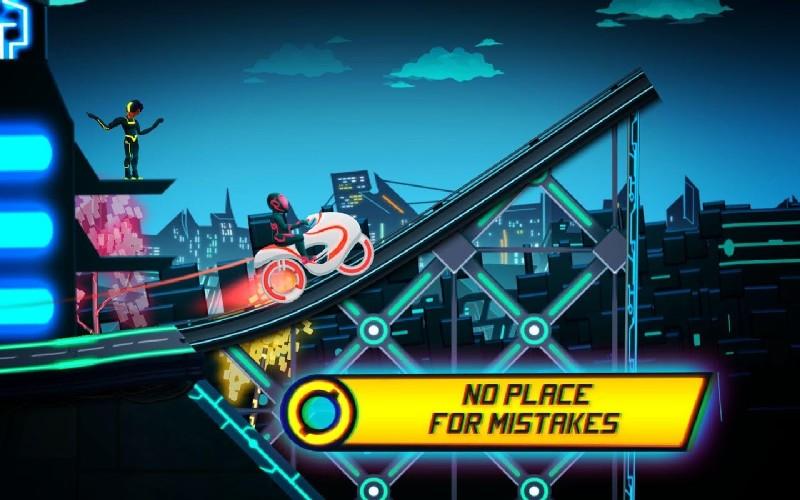 Bike Race Game Traffic Rider Of Neon City APK MOD imagen 5