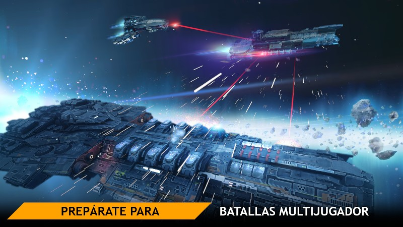Planet Commander Online Spaceship Galaxy Battles APK MOD imagen 1