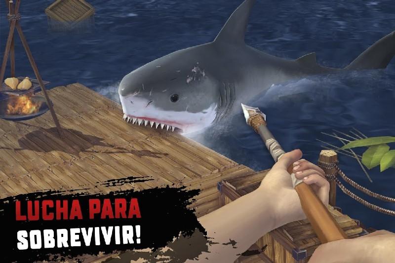 Raft Survival Supervivencia en la balsa APK MOD imagen 3