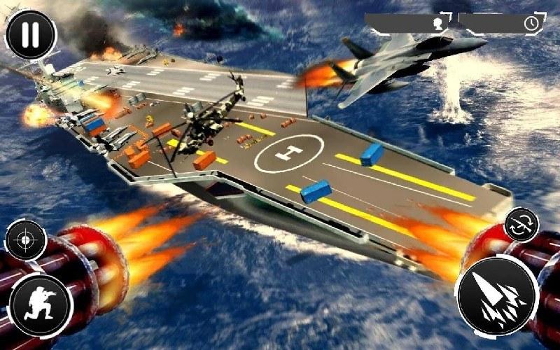 Navy Gunner Shoot War 3D APK MOD imagen 2