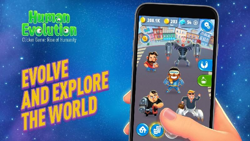 Human Evolution Clicker Game Rise of Mankind APK MOD imagen 2