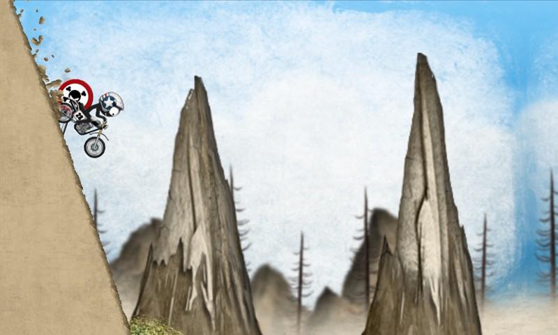 Stickman Downhill Motocross APK MOD imagen 2