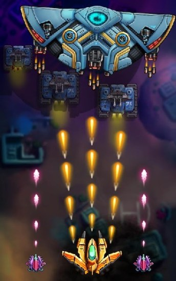 Space X Sky Wars of Air Force APK MOD imagen 5