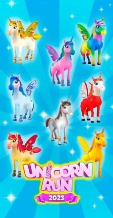 Unicorn Runner 3D - Horse Run APK MOD imagen 2