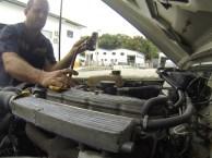 Teste de vazão e compressão do motor