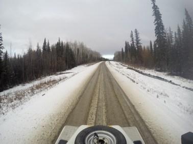 Estradas no inverno do Canadá