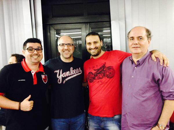Com Bruno Cazonatti e Flávio H. Souza.