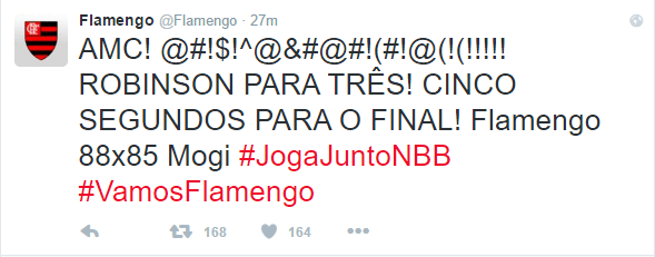 Flamengo comemorou a bola decisiva de Robinson no Twitter. (Foto: Reprodução/ Twitter)