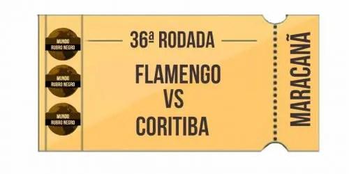 Ingressos – Flamengo x Coritiba