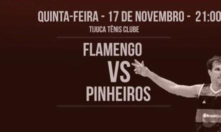 Vindo de duas grandes vitórias fora de casa, Fla enfrenta Pinheiros no TTC