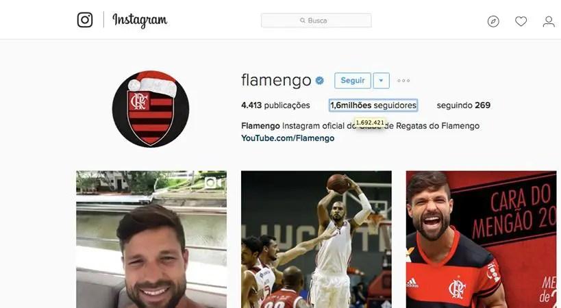 Flamengo passa Corinthians e vira maior do Brasil no Instagram
