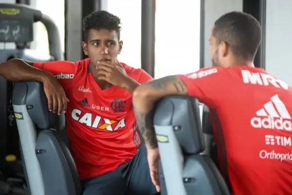 Gabriel volta aos gramados diante do Nova Iguaçu. Foto Gilvan de Souza / Flamengo