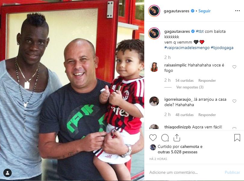 Balotteli e Glauber Tavares é ex-atleta e atual corretor de imóveis e auxiliou o Flamengo