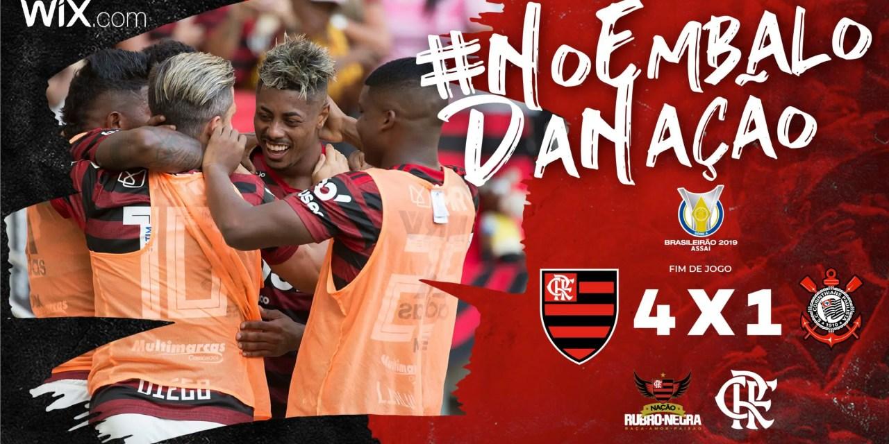 Vitória contra o Corinthians classificou o Flamengo para a Libertadores de 2020