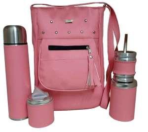 Set de mate con cartera rosada colección YOYO