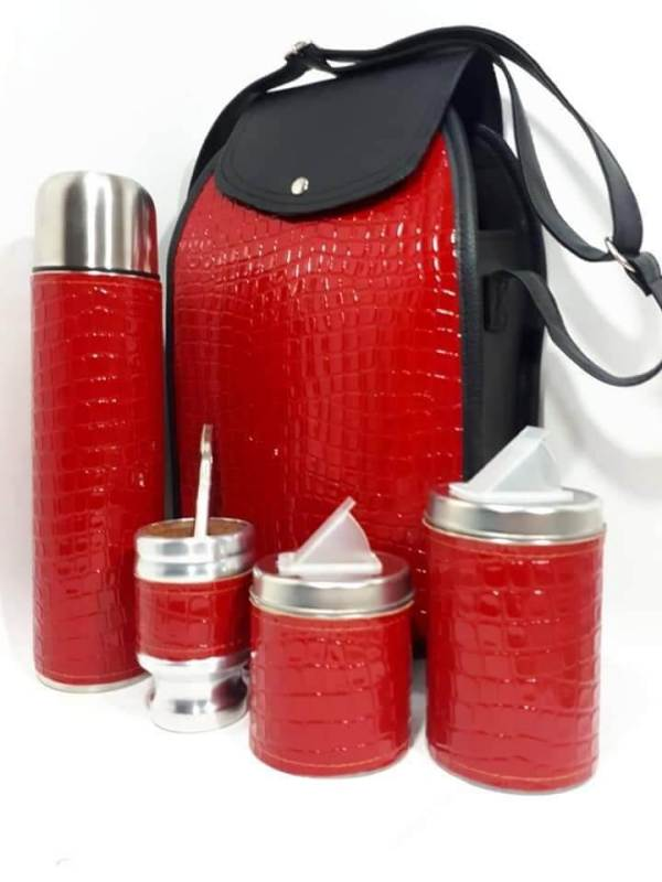 Set matero color croco rojo colección FAR