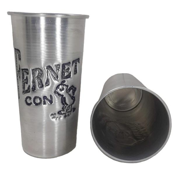 Vaso de aluminio Fernet cincelado a mano venta por mayor