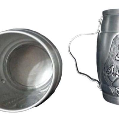 Chopera de aluminio con figura de los simpsons cincelada a mano