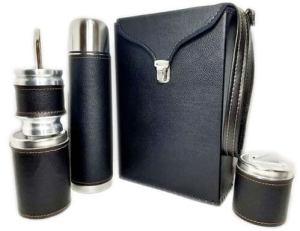 Set matero color Negro liso colección FLOR