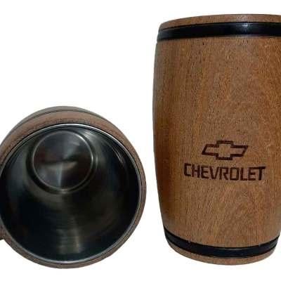 Chopera de madera con grabado laser de Chevrolet