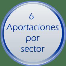 6. APORTACIONES POR SECTOR