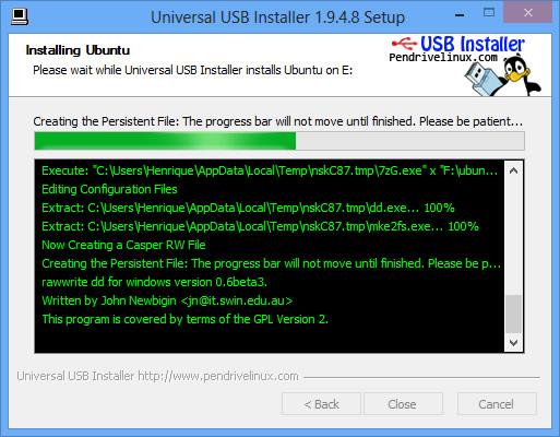 Universal USB Installer: Instalando o Ubuntu 13.10 através de um pendrive