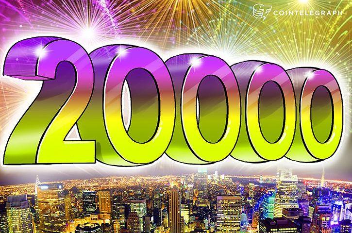 Bitcoin Hits $20,000 Per Coin