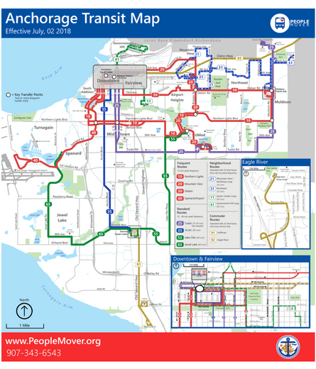 Detroit People Mover Map 2018