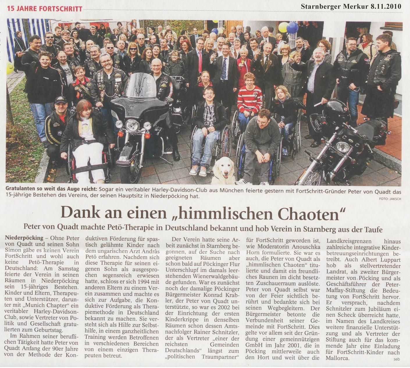 Pressebericht vom Starnberger-Merkur