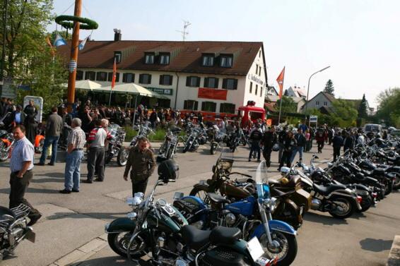 Bikerfrühstück in Odelzhausen am 1. Mai