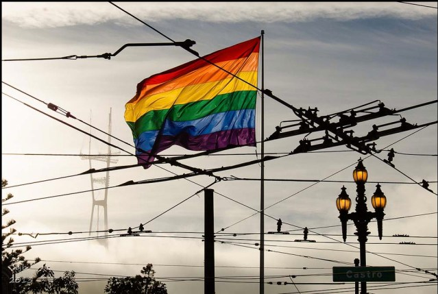 rainbow flag over sf