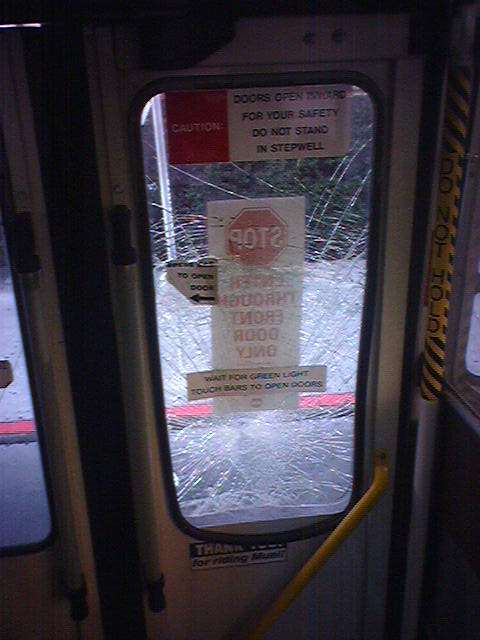shattered muni door