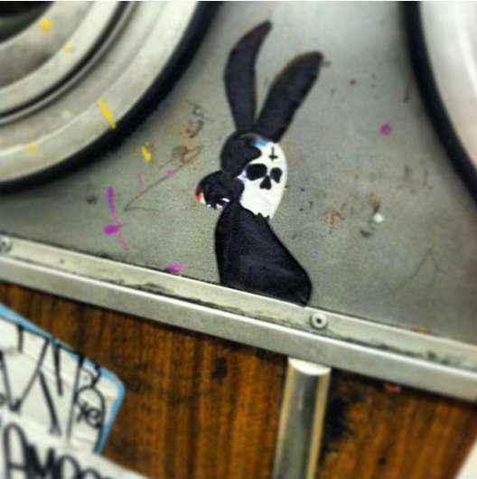 muni rabbit graffiti